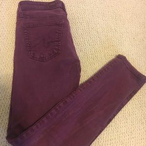 Maroon Adriano Goldschmied jeans.